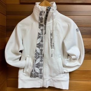 Lululemon Ivory Namaste Funnel Neck Zip Jacket